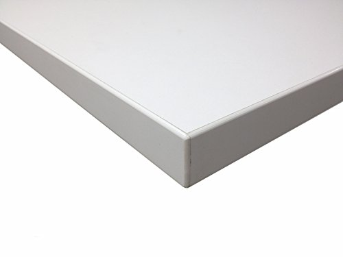 Bümö® stabile Tischplatte 2,5 cm stark - DIY Schreibtischplatte aus Holz | Bürotischplatte belastbar mit 120 kg | Spanholzplatte in vielen Formen & Dekoren| Platte für Büro, Tisch & mehr (Rechteck: 160 x 80 cm, Eiche) - 6