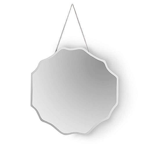 Mnjin Badspiegel Nordic Fashion Glass Mirror Amerikanischer Zierspiegel mit amerikanischer Garderobe