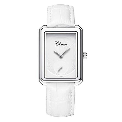 Reloj Cuadrado, Reloj Ultrafino Resistente Al Agua para Mujer, Correa De Cuero, Reloj Cuadrado Pequeño Y Sencillo De Tres Manecillas