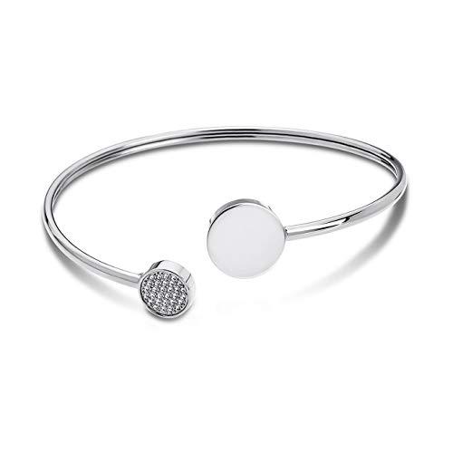 Lotus Style Edelstahl Armband Armreif LS1819-2/1 Damen Silber D2JLS1819-2-1 EIN schönes Geschenk zu Weihnachten, Geburtstag, Valentinstag für die Frau