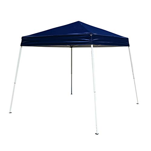 Yanchuan Shade tarpaulin 10'x10' Foldable Camping Tent Easy Pop Up Gazebo Canopy Pavilion Event Party Wedding Outdoor Patio Tent with Bag Blue