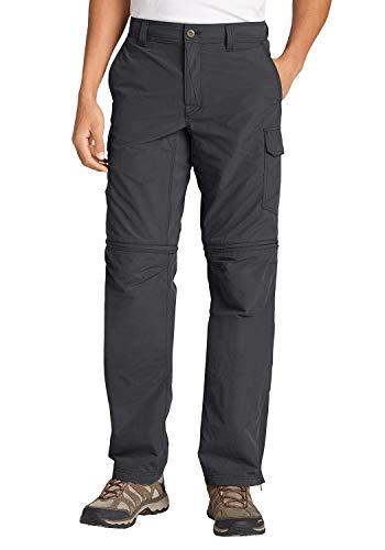 Eddie Bauer Exploration II Zip-Off-Hose Pantalón, Gris (Carbono), 35W x 34L para Hombre