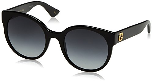 Gucci GG0035S 001 Occhiali da Sole, Nero (Black/Grey), 54 Donna