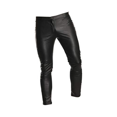 Healifty pantalones de cuero para hombres