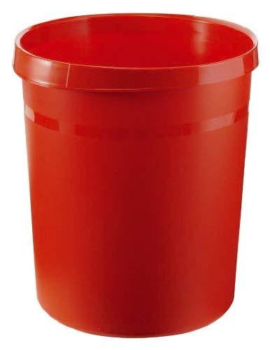 HAN Papierkorb GRIP, 18 Liter, mit 2 Griffmulden, extra stabil, rund, rot