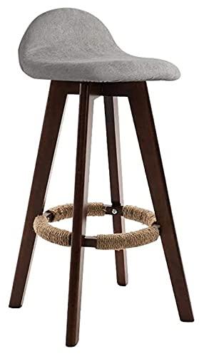JIAH Silla Taburete Rotatable Bar Taburete Silla Dominio Simplificado Madera Sólida Alta Mesa de Recepción Doméstica Desayuno Sillas de Cocina Taburetes
