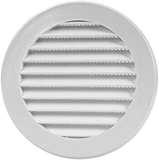 Vent Cover - Round Soffit Vent - Air Vent Louver - Grille Cover - Built-in Fly Screen Mesh - HVAC Ventilation (4'' Inch, P...