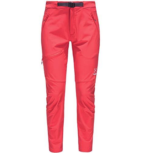 Haglöfs Lizard Pantalón Deportivo, 4DL - Hibiscus Red, L para Mujer