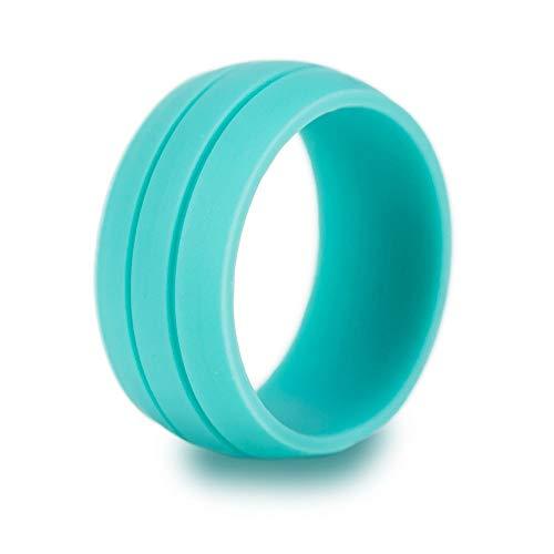UANDM Siliconen Bruiloft Ring voor Dames Betaalbare Siliconen Rubber Bruiloft Bands Duurzame Comfortabele Antibacteriële Ringen Zwart Wit Blauw Zilver Grijs Hip Hop Outdoor Sieraden Punk Ring