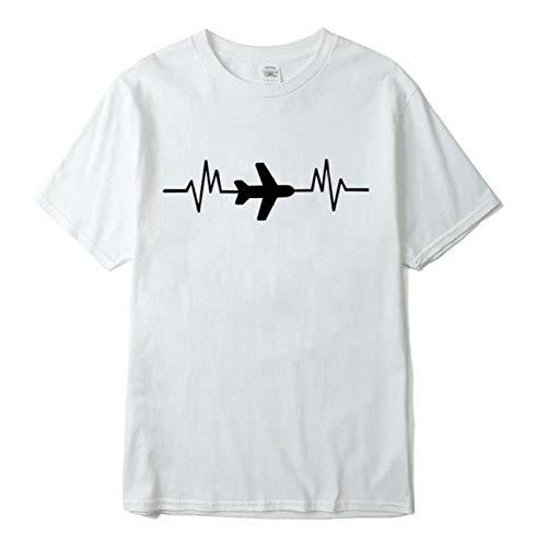 T-Shirt Baumwolle lässig Kurzarm Atmungsaktiv Sommer locker Lustige männliche Streetwear Freund Geschenk-XXL