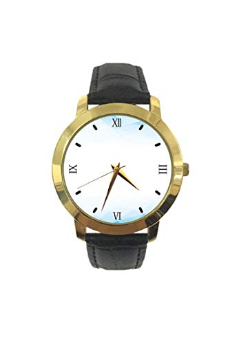 Techno, orologio da polso da uomo, al quarzo, con motivo geometrico, triangolo, astratto, effetto ombré, cinturino in pelle