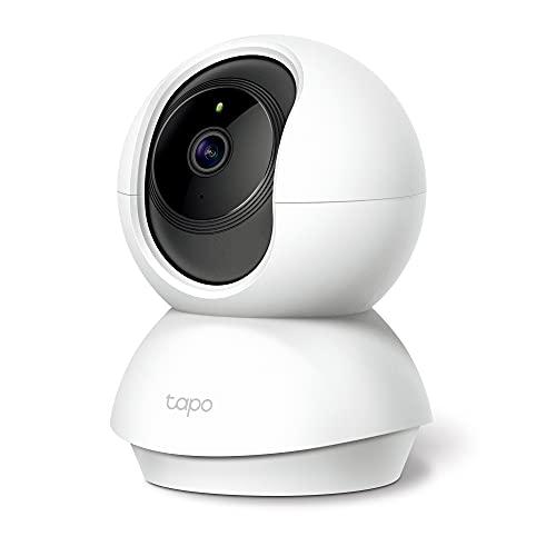 TP-Link Tapo C200 WLAN IP Kamera Überwachungskamera (Linsenschwenkung- & Neigung, 1080p-Auflösung, 2-Wege-Audio, Nachtsicht zu 9m, bis zu 128 GB lokaler Speicher auf SIM Karte) Weiß