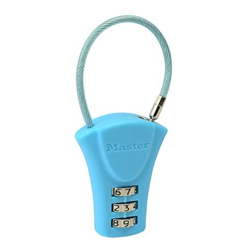 Master Lock 4623EURDAST Candado con Combinación y Arco Flexible, Color Aleatorio, 9,5 x 3,7 x 1,4 cm, 14 cm