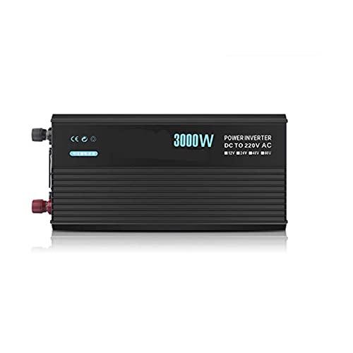 QWERTOUR Inversor de Coche 4000W 24V 220V Transformador de Voltaje Modificado Onda de la Onda sinusoidal DC12V a 220V Converter + Smart LCD Pantalla,3000w