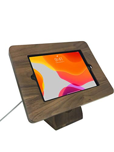 CTA Digital: Premium Angle-Flip Security Kiosk Stand for iPad 10.2-inch (7th Gen.), iPad Air Gen 1 and 2, iPad Gen 5 and 6, and iPad Pro 9.7, Wood