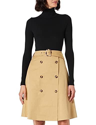APART Fashion Rock Falda, marrón Claro, 44 para Mujer
