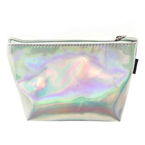 qingqingR Hologramm holographische Bleistift Tasche Mäppchen Handtasche Make-up Laser Aufbewahrungstasche