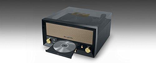 Platine de Disque rétro Muse MT-110 - avec USB, AUX-in, CD, Bluetooth Noir