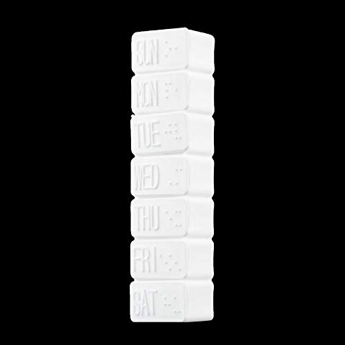 SENZHILINLIGHT 1pc Una Settimana 7 Giorni Piccola Medicina Pillola Scatola della Droga Pillola Mini Scatola della Pillola Contenitore Non Rimovibile Custodia in plastica