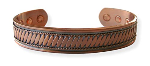 Magnetic Solid Copper Golf Bangle Bracelet Vine with Gift Box