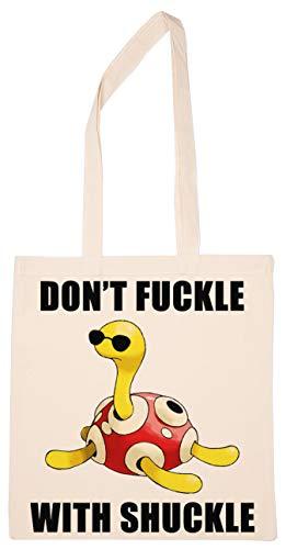 Enigmae Don't Fuckle With Shuckle Turtle Turtoise Reutilizable Compras Tienda de Comestibles Algodón Bolsa Reusable Shopping Bag