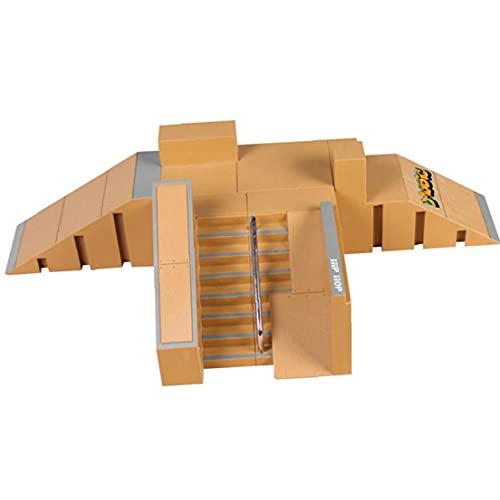 Dedo de monopatín Kit, Mini Kit Finger Skate Park, Piezas de rampa con Las Juntas de Dedo para Finger Skateboard Ultimate Parques Puntales de formación