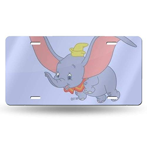 Suzanne Betty Aluminum License Plates - Dumbo Wallpaper License Plate Tag Car Accessories 12 X 6 Inches