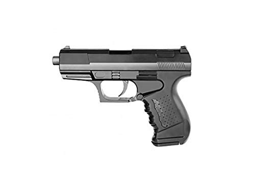 plan beta-Pistola Softair a Molla 1099-01-potenza : 0,2 Joule, Colore: Nero