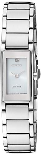 Citizen Women's Eco-Drive Japanese-Quartz Stainless-Steel Strap, Silver Casual Watch (Model: EG7050-54A)