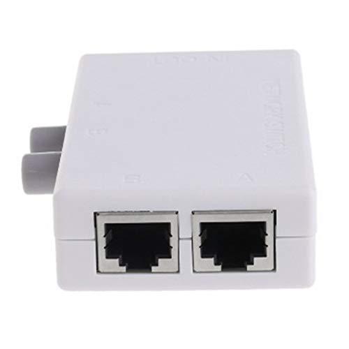 #N/D Interruptor de red de 2 puertos LAN CAT Selector Mini Internet Interno Conmutador de red RJ45-2M Compartidor de conmutador de red