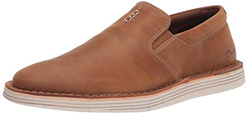 Clarks Men's Forge Free Loafer, Tan Leather, 12M