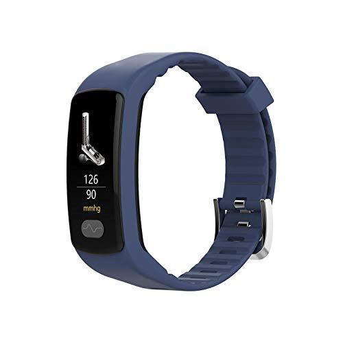 E07 Smartwatch 0,96 Zoll Farb-Touchscreen, IP67, wasserfest, Herzfrequenzmesser, Smart-Armband blau