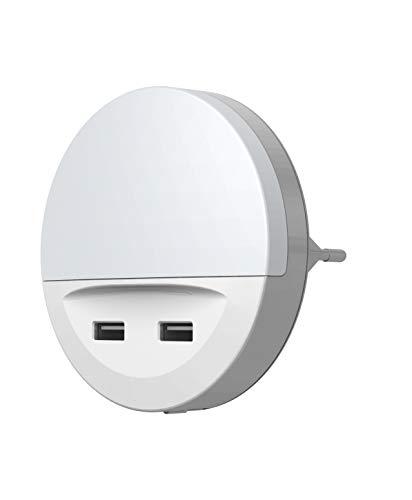 LEDVANCE LED Nachtlicht, Leuchte für Innenanwendungen, Warmweiß, Integrierter USB-AusgangLunetta USB