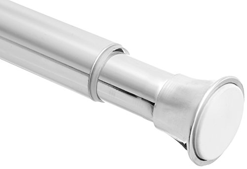 "AmazonBasics Rust Resistant Easy to Install Tension Shower Doorway Curtain Rod, 36-54"", Chrome"