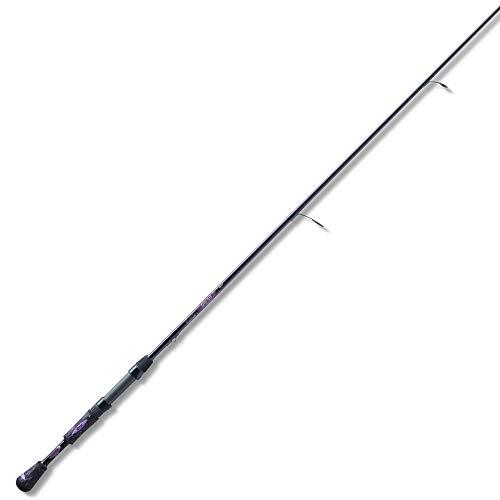 St. Croix MYS70MHF Mojo Yak Carbon Spinning Fishing Rod with IPC Technology, 7-feet, Black Cherry Metallic