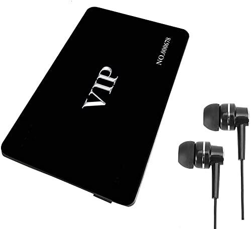Registratore Vocale Digitale Attivazione Vocale, Registratore Audio e MP3 Player 16 GB Scheda VIP (VIP Scheda VIP Nera)