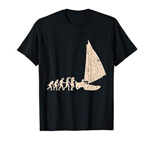 Barco de la Evolución de la Vela Capitán del Mar Marinero Camiseta