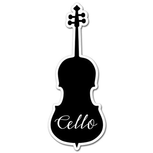 AK Wall Art Cello Vinyl Sticker - Car Phone Helmet - Select Size