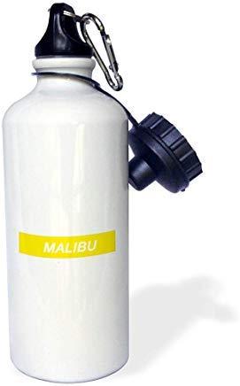 Queen54ferna Malibu - Botella de Agua de Aluminio para Deportes, Senderismo, Gimnasio, Escuela, Camping, para Hombres, Mujeres, niños