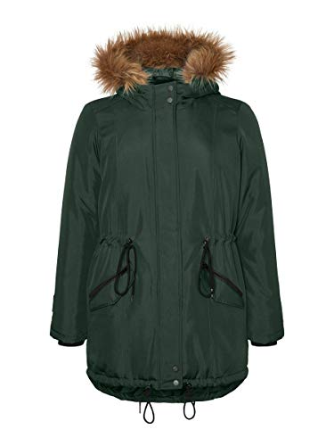 Junarose Female Parka Winter L-46/48Deep Forest