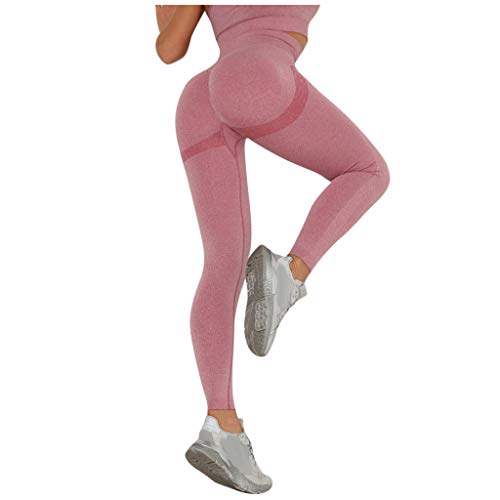 Damen Hohe Taille Yogahosen, Sexy Push Up Leggings Geraffte Sport Hose Fitnesshose Stretch Training Leggins Lange Laufhose FüR Gym Yoga Workout