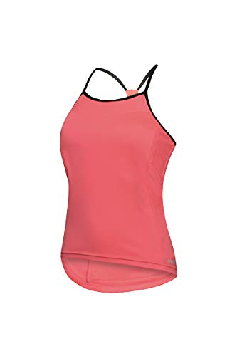 zerorh+ Brezza W - Camiseta de Ciclismo para Mujer, Mujer, Ecd0726 403L, Psychotic Salmon/Black, L
