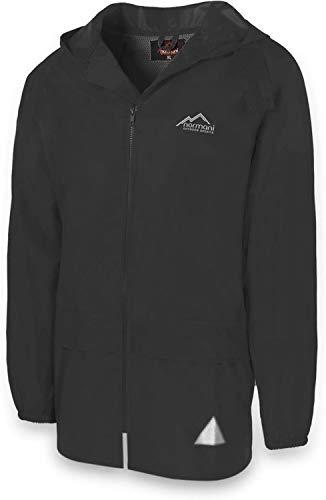 normani Leichte Windjacke/Regenjacke im Beutel, Unisex - Erwachsene Farbe Black Größe 2XL