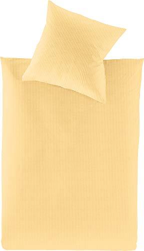 Irisette Bettwäsche Lumen Interlock-Jersey gelb Größe 135x200 cm (40x80 cm)