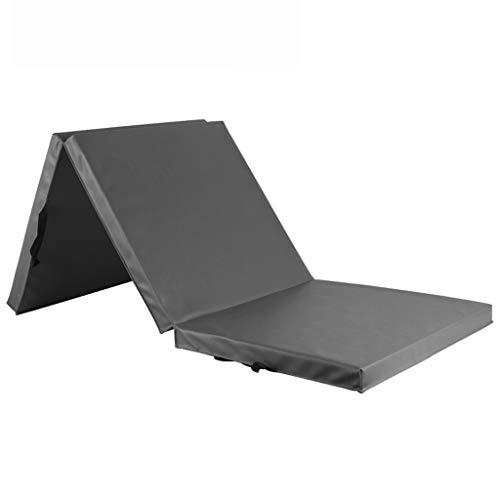 SDXMIUHX Opvouwbare matras, multifunctioneel, PU-huid, vouwbaar, gymnastiekmat, voor kantoor, lunchpauze en fitnessmat, gemakkelijk te reinigen, met draaggreep
