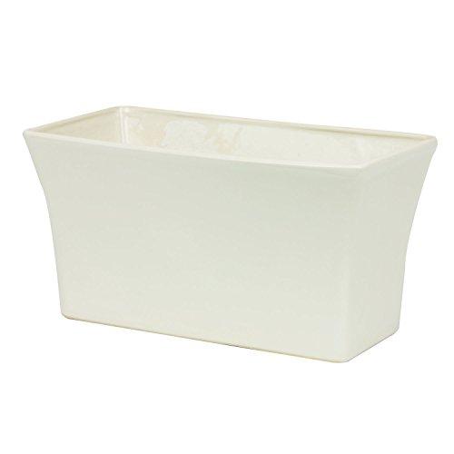 Coprivaso in ceramica serie Milano Gaja, 29 x 15,5 x 15,5 cm, colore: crema
