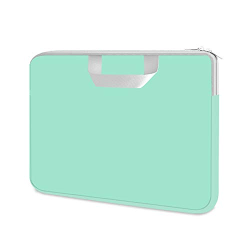 HESTECH Chromebook Case, 11.6-12.3 inch Neoprene Laptop Sleeve Case Bag Handle Compatible with Acer Chromebook r11/HP Stream/Samsung/ASUS C202 L210/Microsoft Surface Pro 7/3/4/5/6,Mint Green