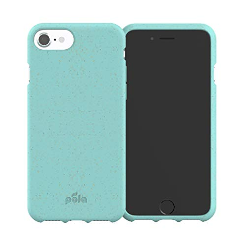 Pela: Phone Case for iPhone 6/6s/7/8/SE - 100% Compostable and Biodegradable - Eco-Friendly - Made from Plants (6/6s/7/8/SE Purist Blue Slim)