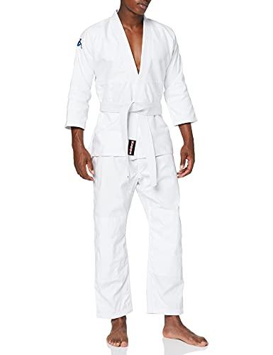 kappa4judo Los Angeles, Judoanzug Unisex Erwachsene, Weiß, 3/160 cm