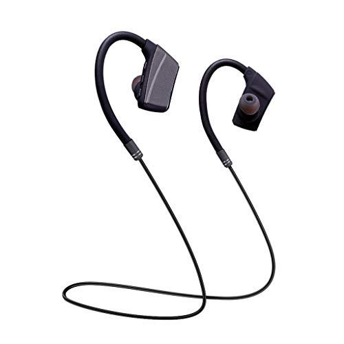 Yowablo Hängender Hals Bluetooth Sport Kopfhörer Metall Ohr Muschel Super Gute Klangqualität ( Grau )